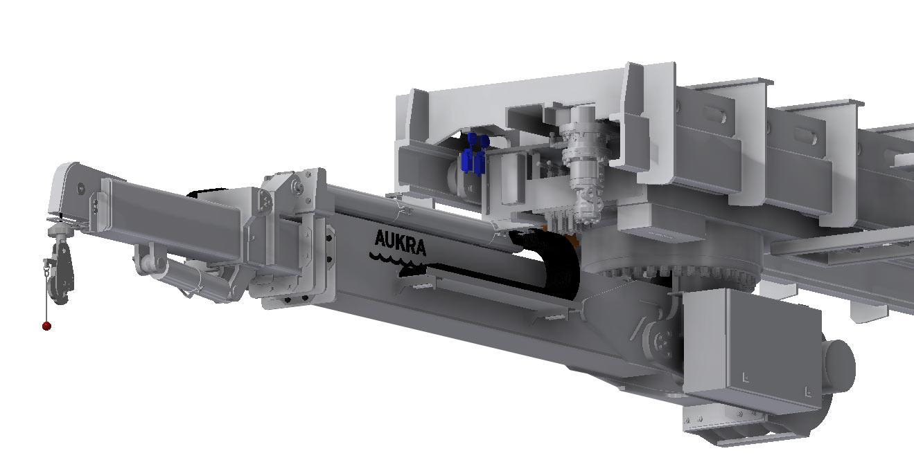 Aukra Maritime Vant kontrakt på levering av kranløsning til Ulstein Verft