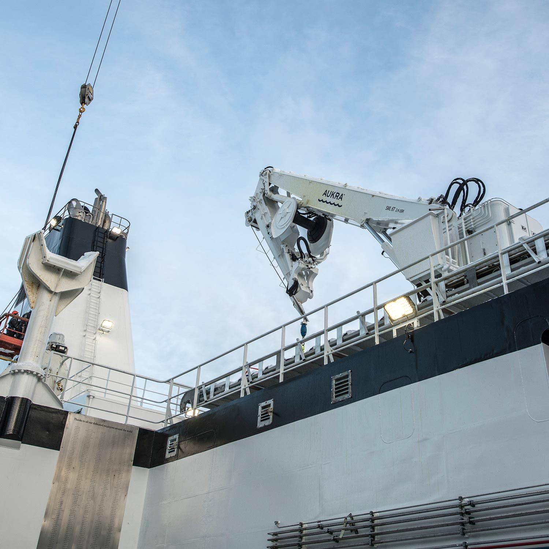 Aukra Maritime crane fisheries